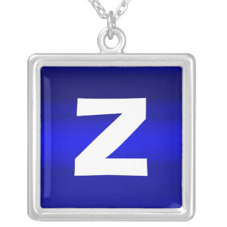 Monogram Abstract 0101 Square Pendant Necklace