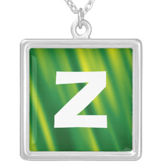 Monogram Abstract 0109 Square Pendant Necklace