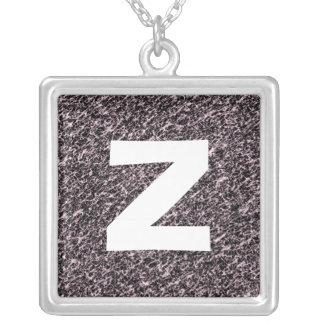 Monogram Abstract 0116 Square Pendant Necklace