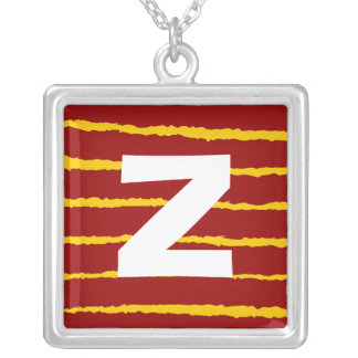Monogram Abstract 0138 Square Pendant Necklace