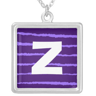 Monogram Abstract 0145 Square Pendant Necklace