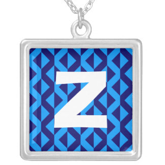 Monogram Abstract 0164 Square Pendant Necklace