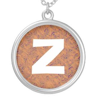 Monogram Abstract 016 Round Pendant Necklace