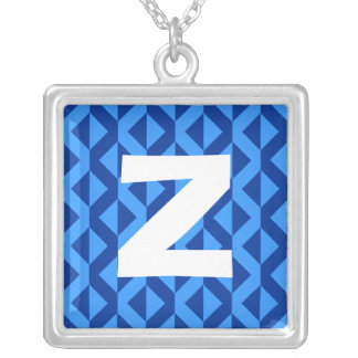 Monogram Abstract 0177 Square Pendant Necklace