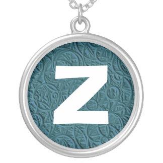 Monogram Abstract 017 Round Pendant Necklace