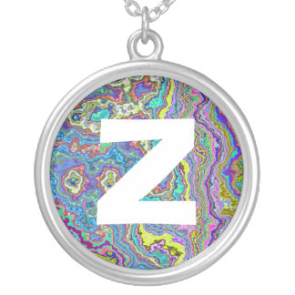 Monogram Abstract 035 Round Pendant Necklace