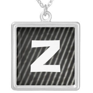 Monogram Abstract 097 Square Pendant Necklace
