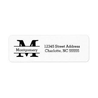 Monogram - Address Labels
