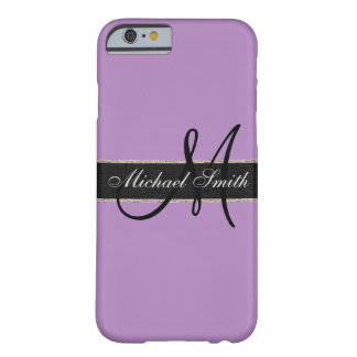 Monogram African violet Background Barely There iPhone 6 Case