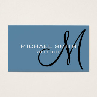 Monogram Air Force blue color background #2 Business Card