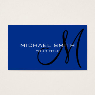 Monogram Air Force blue color background Business Card