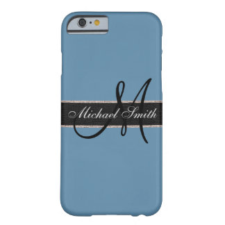 Monogram Air Force blue (RAF) Background Barely There iPhone 6 Case