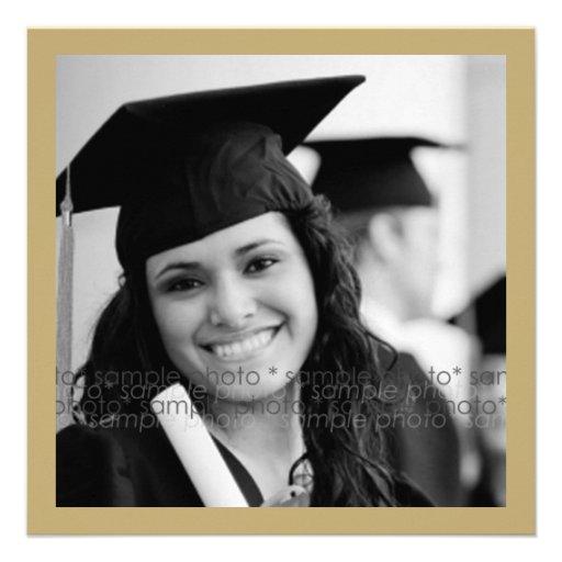 Monogram Alphabet Graduate Graduation Photo Party Announcements (back side)