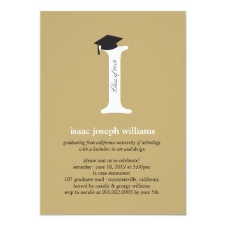 Monogram Alphabet Graduation Photo Party Invite