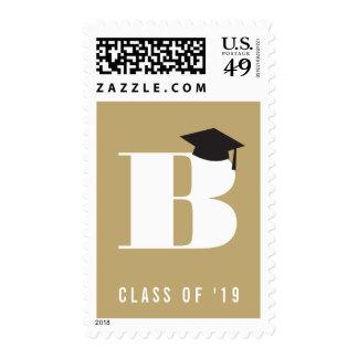 Monogram Alphabet Name Graduate Graduation Stamps