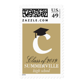 Monogram Alphabet Name Graduate Graduation Stamps