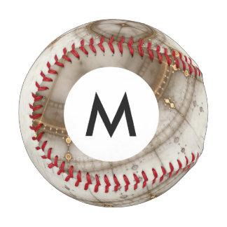 Monogram Ancient Nautical Chart, Grunge Baseball