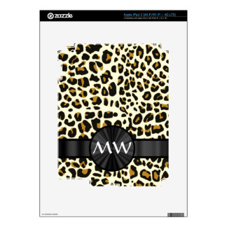 Monogram and leopard print iPad 3 skins