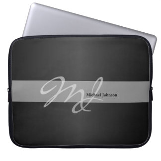 Monogram and Name Design Laptop Sleeve