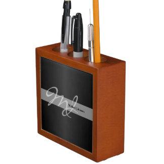 Monogram and Name Design Pencil Holder