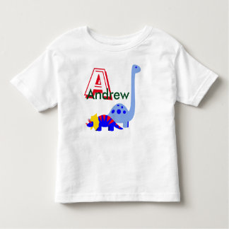 Monogram and name dinosaur shirt