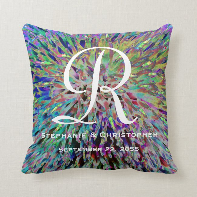 Monogram and Names Multi Color Abstract Floral