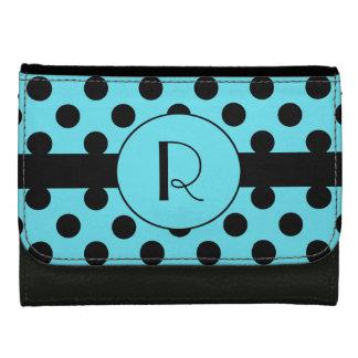 Monogram and Polka Dot Custom Wallet