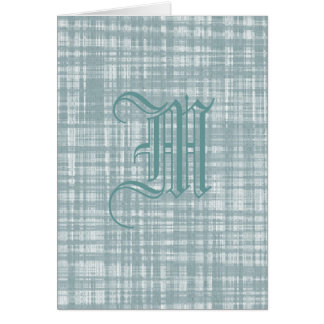 Monogram and Weave Card