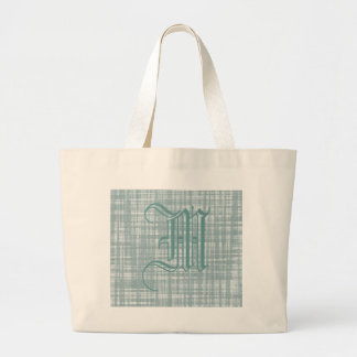 Monogram and Weave Large Tote Bag