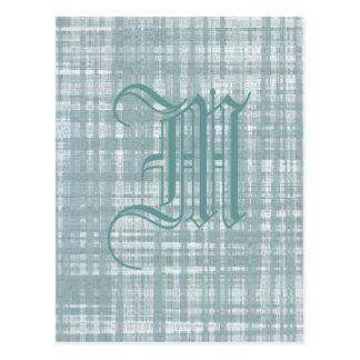 Monogram and Weave Postcard