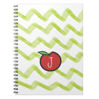 Monogram Apple Teacher Notebook