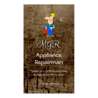 Monogram, Appliance Repairman, leather-effect Double-Sided Standard Business Cards (Pack Of 100)