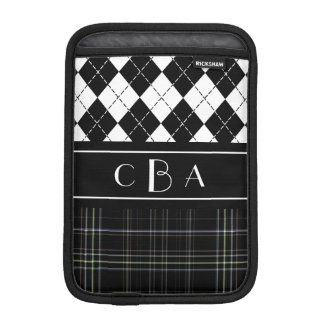 Monogram Argyle and Plaid iPad Mini Sleeve