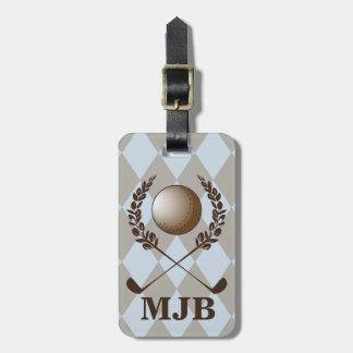 Monogram Argyle Golf Crest Bag Tags