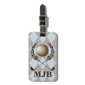 Monogram Argyle Golf Crest Luggage Tag