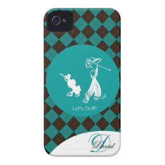 Monogram Argyle Lets Golf Golfer Iphone 4/4S Case
