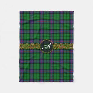 Monogram Armstrong Tartan Fleece Blanket