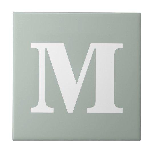 Monogram Ash Grey Contemporary Complementary Color Ceramic Tile
