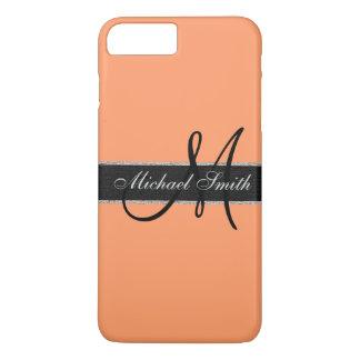 Monogram Atomic tangerine Color Background iPhone 7 Plus Case