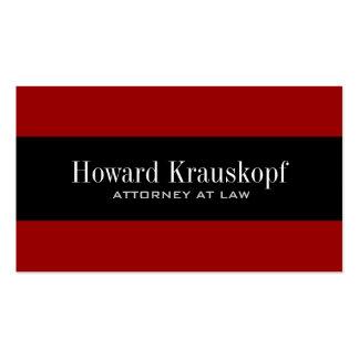 Monogram Attorney Business Cards