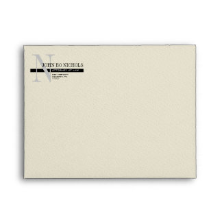 Monogram Attorney Thank You Note Envelope A2