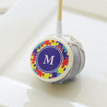 Monogram Autism Awareness Aspergers Puzzle Pattern Cake Pops