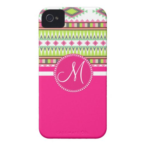 Monogram Aztec Andes Trial Mountains Diamonds iPhone 4 Case
