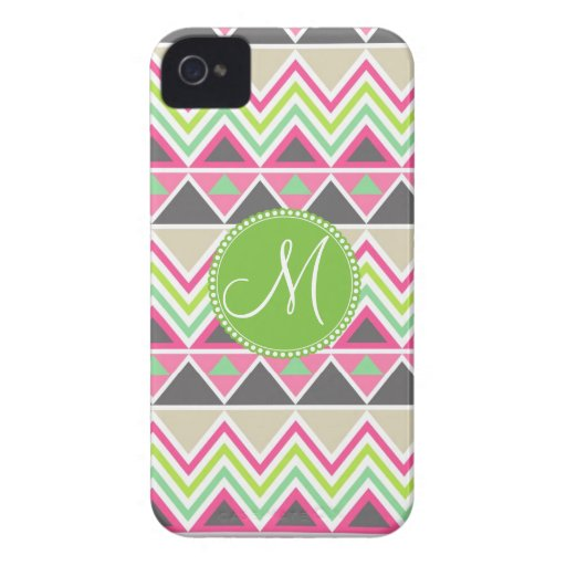 Monogram Aztec Andes Tribal Mountains Chevron iPhone 4 Covers