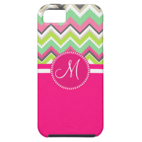 Monogram Aztec Andes Tribal Mountains Chevron iPhone 5 Cover