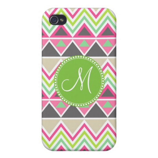 Monogram Aztec Andes Tribal Mountains Chevron Case For iPhone 4