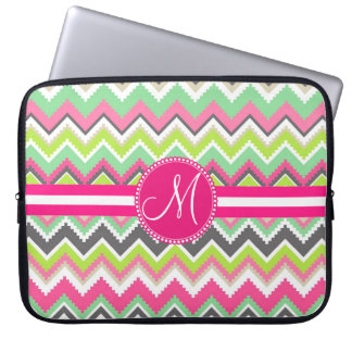 Monogram Aztec Andes Tribal Mountains Chevron Laptop Sleeve