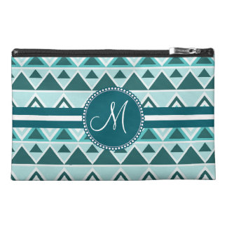 Monogram Aztec Andes Tribal Mountains Triangles Travel Accessory Bag