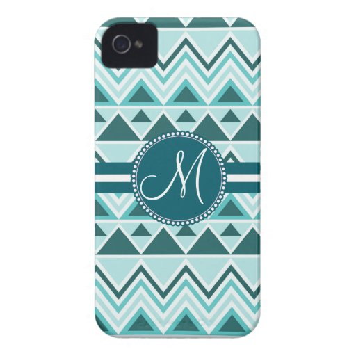 Monogram Aztec Andes Tribal Mountains Triangles iPhone 4 Cases