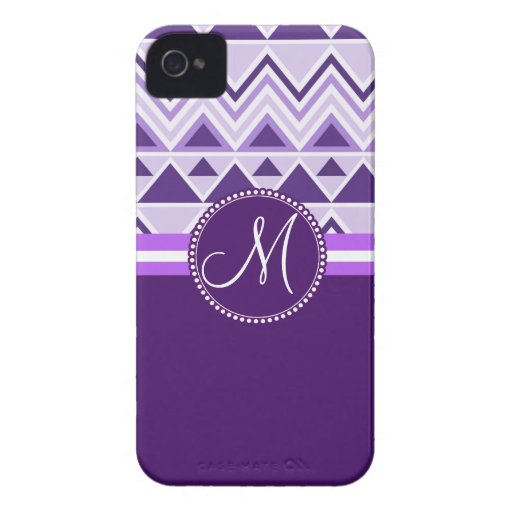 Monogram Aztec Andes Tribal Mountains Triangles iPhone 4 Case